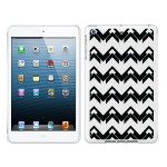 iPad Air White Glossy Case Black/White Collection,Herringbone
