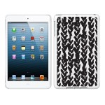 iPad Air White Glossy Case Black/White Collection, Hearts