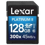 Lexar Media Platinum II 300x SDXC 128GB UHS-I/U1 (Up to 45MB/s Read) Flash Memory Card LSD128BBNL300