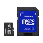 Toshiba Flash memory card ( microSDHC to SD adapter included ) - 32 GB - UHS Class 1 / Class10 - microSDHC UHS-I - black - for Chromebook 2; Portégé R30, Z20, Z30; Tecra C50, W50, Z40, Z50, Z50 SSHD-15 PFM032U-2DCK