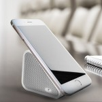 Compact Bluetooth Speaker and Mobile Stand - White