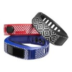 "Wrist strap - small size - JONATHAN ADLER ""Newport"" - black, blue, red (pack of 3) - for  vívofit 2"