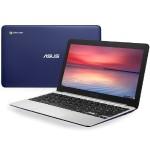 "C201PA-DS01 Rockchip RK3288C Quad-Core 1.80GHz Chromebook - 2GB RAM, 16GB SSD, 11.6"" HD Display, 802.11 a/b/g/n/ac, Bluetooth, Webcam, 2- cell 38Whrs Polymer, Navy Blue"