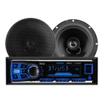 "638BCK - Car - digital receiver - in-dash - Full-DIN - 50 Watts x 4 - with two 6.5"" speakers"