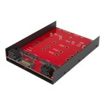 "4x M.2 SATA mounting adapter for 3.5in drive bay - mount four M.2 NGFF SATA-based SSDs into one 3.5"" drive bay"
