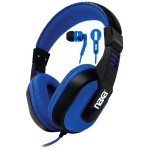 Naxa Electronics BLUE DJZ ULTRA PLUS HEADPHONE/EARBUD COMBO NE-934BLUE