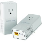 NetGear Powerline PLP1200 - Bridge - GigE, HomePlug AV (HPAV) 2.0, IEEE 1901 - wall-pluggable PLP1200-100PAS