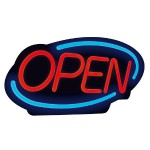 OPEN SIGN BRIGHT LED LIGHTING
