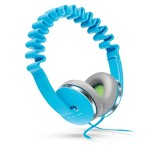 InnoWAVE Over-the-Head Headphones - 40mm Driver, Flat cable prevents tangle - Includes carrying pouch - Blue