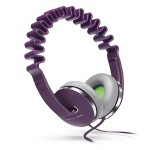 InnoWAVE Over-the-Head Headphones - 40mm Driver, Flat cable prevents tangle - Includes carrying pouch - Purple