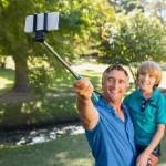 Monopad Selfie Stick - Blue