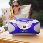 e-matic CD Boombox with Bluetooth Audio & Speakerphone - Blue EBB9224BU