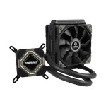 Liqmax II 120S - Liquid cooling system - (LGA775 Socket, LGA1156 Socket, Socket AM2, Socket AM2+, LGA1366 Socket, Socket AM3, LGA1155 Socket, Socket AM3+, Socket FM1, Socket FM2, LGA1150 Socket, Socket FM2+, Socket AM4) - copper - 120 mm
