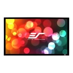 SableFrame Series - Projection screen - wall mountable - 120 in (120.1 in) - 16:9 - CineGrey 3D - black