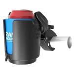 RAM Tough-Claw Mount with Self-Leveling Cup Holder
