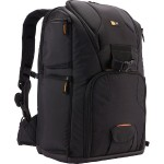 Sling Backpack - Backpack for camera with lenses and notebook - nylon - black