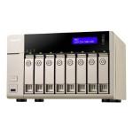 TVS-863+ Turbo NAS - NAS server - 8 bays - SATA 6Gb/s - RAID 0, 1, 5, 6, 10, 5 hot spare, 6 hot spare, 10 hot spare - Gigabit Ethernet / 10 Gigabit Ethernet - iSCSI