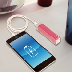 2600 mAh Powerbank / Lipstick Battery - Pink