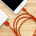 Urban Factory Lightning Collection - Lightning cable - Lightning (M) to USB (M) - 3.3 ft - red - for Apple iPad/iPhone/iPod (Lightning) CID04UF