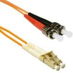 ST to LC 50/125 Multimode Duplex Orange 3 Meter Fiber Cable