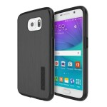 DualPro Shine Dual Layer Protection with Brushed Aluminum Finish for Samsung Galaxy S6 - Black