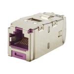 MINI-COM TX6 Plus Shielded Jack Module - Modular insert - RJ-45 - violet