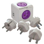 4-Outet PowerCube ReWirable Plug with 2 USB Ports