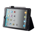 Flip cover for tablet - synthetic leather - black - for Apple iPad mini