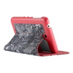 FitFolio - Flip cover for tablet - leatherette - FreshBloom Pink/Black/Coral Pink - for Samsung Galaxy Tab 3 (7 in)