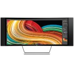 "Z Display Z34c - LED monitor - curved - 34"" (34"" viewable) - 3440 x 1440 QHD - VA - 350 cd/m² - 3000:1 - 8 ms - HDMI, DisplayPort, MHL - speakers - black (bezel), silver (stand), white (back) - Smart Buy"