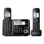 KX-TGF342B - Cordless phone - answering system with caller ID/call waiting - DECT 6.0 - black + additional handset