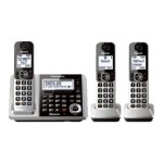 KX-TGF373S - Cordless phone - answering system with caller ID/call waiting - DECT 6.0 - silver + 2 additional handsets