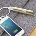 Astro Mini 3200mAh Lipstick-Sized External Battery with PowerIQ Technology for iPhone & Smart Phones - Gold