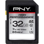 PNY 32GB HIGH PERFORMANCE SDHC CLASS 10 UHS-1 MEMORY CARD P-SDH32GU165G-GE