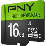 16GB Turbo Performance High Speed UHS-I microSD Memory Card U1, Class 10