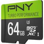 64GB Turbo Performance High Speed UHS-I microSD Memory Card U3, Class 10