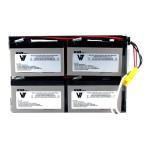 RBC24- - UPS battery - 1 x lead acid - for P/N: DLA1500RM2U, DLA1500RMI2U, SU1400R2IBX135, SUA1500R2X122, SUA1500R2X180, SUA1500R2X93