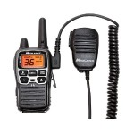 Handheld/Wearable Speaker Microphone with Push-to-Talk for GMRS Radios