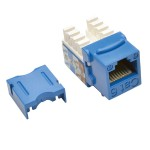 Cat6/Cat5e 110 Style Punch Down Keystone Jack - Blue, 25-Pack