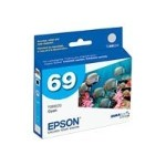 Epson 69 - Cyan - original - ink cartridge - for Stylus N11, NX110, NX115, NX215, NX415, NX510, NX515; WorkForce 1100, 310, 500, 600, 610 T069220-S