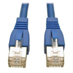 Augmented Cat6 (Cat6a) Shielded (STP) Snagless 10G Certified Patch Cable, (RJ45 M/M) - Blue 1-ft.