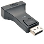 DisplayPort 1.2 to DVI Compact Adapter Converter (DP-Male to DVI-I Female)