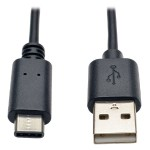 USB 2.0 Hi-Speed Cable, USB Type-A Male to USB Type-C (USB-C) Male, 6-ft.