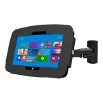 Surface Secure Space Enclosure with Swing Arm Kiosk Black - Wall mount for tablet - aluminum - black - for Microsoft Surface 3