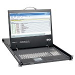 "1U Rack-Mount Console with 19"" LCD, DVI or VGA"