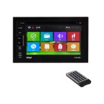 Pyle PLDNV66B - Navigation system - display - 6.5 in - touch screen - in-dash unit - Double-DIN - 80 Watts x 4 PLDNV66B