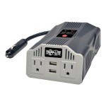 Ultra-Compact Car Inverter 400W 12V DC to 120V AC 2 UBS Charging Ports 2 Outlets - DC to AC power inverter + battery charger - 12 V - 400 Watt - output connectors: 2