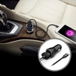 Apple MFI Certified Car Charger with Detachable Lightning Manageable Cable for iPad & iPhone