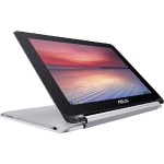 "ASUS Chromebook Flip C100PA-DB02 Rockchip Quad-Core RK3288C 1.80GHz Convertible - 4GB RAM, 16GB SSD, 10.1"" WXGA IPS LED, 802.11a/b/g/n/ac, Bluetooth, Webcam, 2-cell 31Wh Battery, Silver C100PA-DB02"