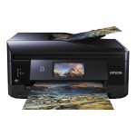 Expression Premium XP-830 - Multifunction printer - color - ink-jet - Legal (8.5 in x 14 in) (original) - A4/Legal (media) - up to 11 ppm (copying) - up to 32 ppm (printing) - 120 sheets - 33.6 Kbps - USB 2.0, LAN, Wi-Fi(n), USB 2.0 host - black, blue